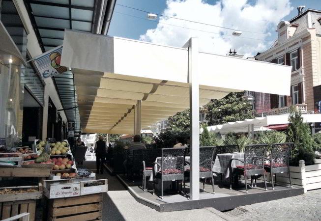 ombrellone pergola dehors ombra caffe merano 12m