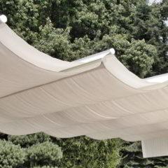 ombrellone pergola giardino illuminazione led