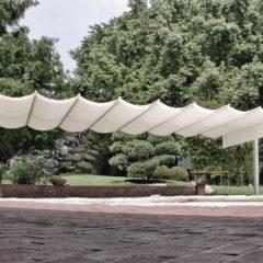 ombrellone pergola piscina giardino autoportante alluminio
