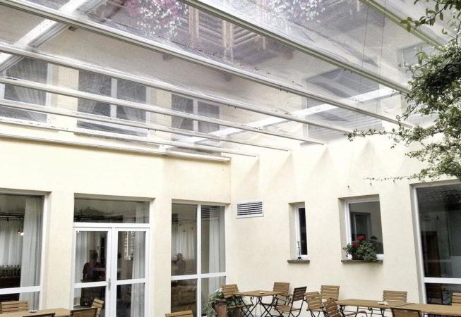 ombrellone pergola retrattile winter garden serra scorrevole impermeabile