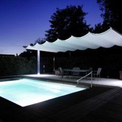ombrellone pergola piscina giardino policarbonato led
