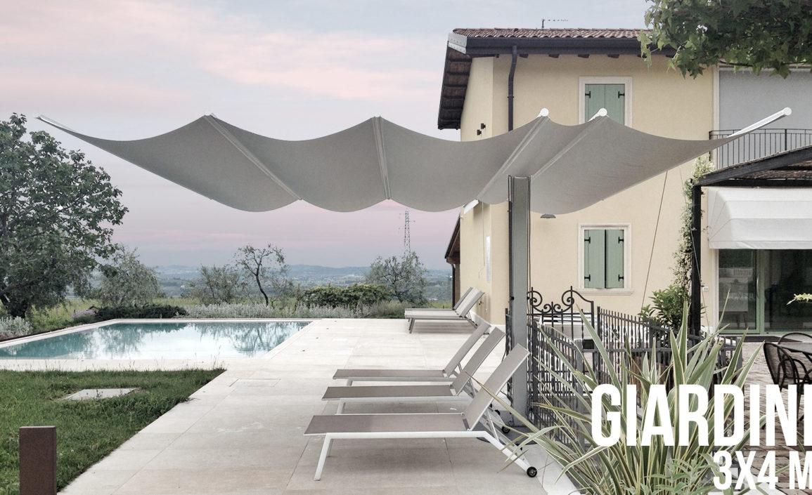 ombrellone scorrevole piscina giardino